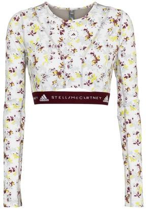 adidas by Stella McCartney Future Playground floral crop top