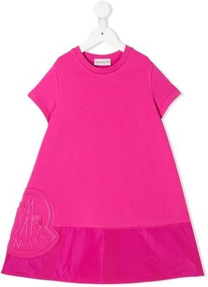 Moncler Enfant Logo Embroidered Dress