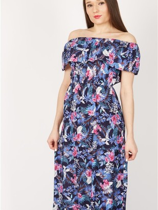 M&Co Izabel floral bardot maxi dress