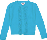 Pink Angel Go Blue Ruffle Button-Up Cardigan - Infant Toddler & Girls