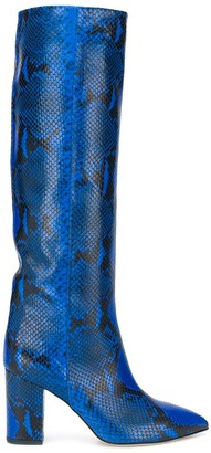 Paris Texas Snakeskin-Print High Boots