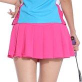 TopTie Girls Tennis Skirt, Sports Skort with Underwear Covered-M