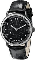 88 Rue du Rhone Women's 87WA120010 Analog Display Swiss Quartz Black Watch