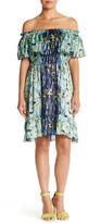Anna Sui Gone Fishing Silk Peasant Dress
