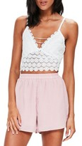 Missguided Women's Circle Lace Crop Tank