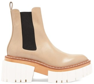 Stella McCartney Emilie Faux-leather Platform Chelsea Boots - Beige