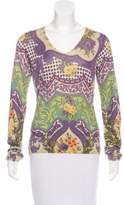 Etro Silk & Cashmere-Blend Printed Sweater