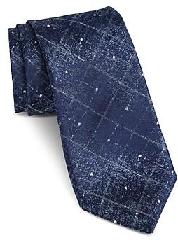 John Varvatos Fillmore Faded Diamond Classic Silk Tie