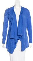 Magaschoni Draped Open-Front Cardigan