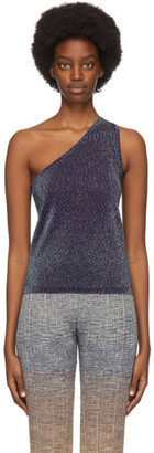 Missoni Purple Lame One-Shoulder Tank
