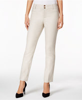Charter Club Double-Button Slim-Leg Pants, Only at Macy's