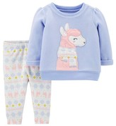 Carter's Child Of Mine By Child Of Mine by Toddler Girl Fleece Long Sleeve Critter Top & Pants, 2pc Outfit Set