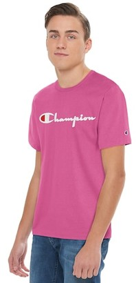 Champion Heritage Embroidered Short Sleeve T-Shirt - Peony Parade Pink