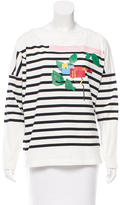 Band Of Outsiders Graphic Print Striped Top w/ Tags