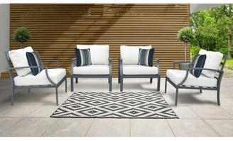 Bronx Benner Patio Chair with Cushions Ivy Cushion Color: White