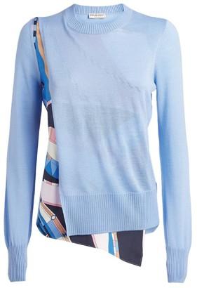 Emilio Pucci Wool Wally Print Sweater