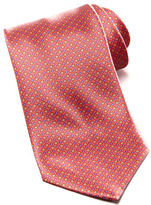 Stefano Ricci Medium Floral Medallion Silk Tie, Coral