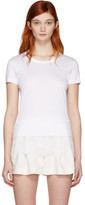 Carven White Lace Detail T-Shirt