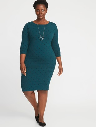 Old Navy Jersey Scoop-Neck Plus-Size Bodycon Dress