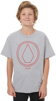 Volcom Boys Pin Line Tee Grey