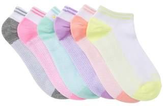 Calvin Klein Striped Cuff No Show Socks - Pack of 6 (Big Kid)