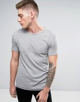 Lindbergh T-Shirt With Cut & Sew Panels In Gray