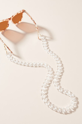 DONNI Shelby Sunglasses Chain By in Beige