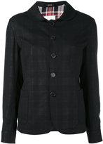 Maison Margiela round collar jacket - women - Cotton/Virgin Wool - 42