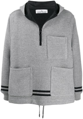 Stone Island patch pocket hoodie