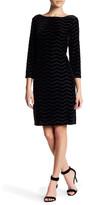 Eliza J 3/4 Sleeve Velvet Shift Dress