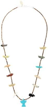Jessie Western beaded bear necklace