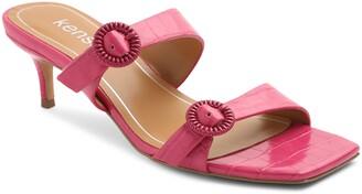 Kensie Croc Embossed Slide Sandal