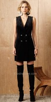Greylin Sleeveless Velvet Tuxedo Dress
