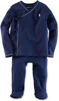 Ralph Lauren Set, Baby Boys Solid Kimono Shirt and Pants