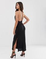 Asos Design DESIGN cami slip maxi dress with t-bar detail