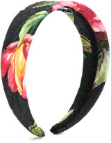 Dolce & Gabbana tulip print hair band - kids - Silk/Cotton/Viscose/plastic - One Size