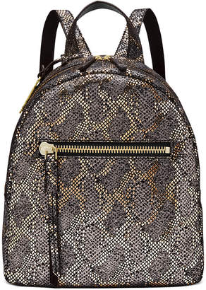 Fossil Megan Metallic Leather Backpack