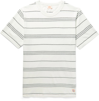 Armor Lux Barnaby Logo-Appliqued Striped Cotton-Jersey T-Shirt
