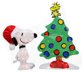 Asstd National Brand 24 Pre-Lit 2-D Peanuts Snoopy & Christmas Tree Yard Art with Clear Lights