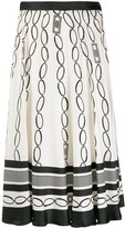 Elisabetta Franchi chain print midi skirt