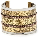 Forever 21 Metallic Etched Cuff Bracelet