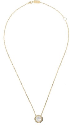 Ippolita 18kt yellow gold and black ceramic short Lollipop Carnevale crystal and diamond pendant necklace