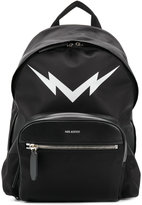 Neil Barrett lightning bolt backpack - men - Leather/Polyamide - One Size
