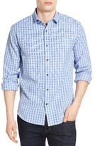 James Campbell Men's Rae Textured Check Sport Shirt