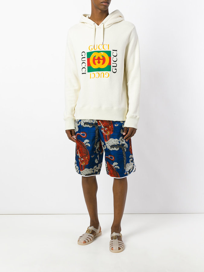 Gucci Bengal print swim shorts