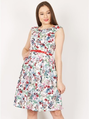M&Co Izabel rose print prom dress
