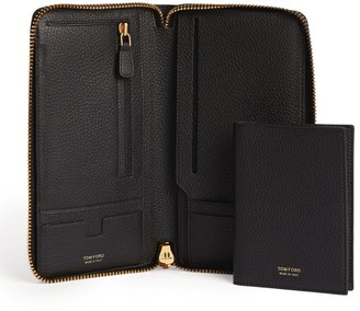 Tom Ford Grained Leather Travel Wallet