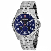Wenger Squadron 77060 Men's Stainless Steel Chronograph Watch with Blue Dial