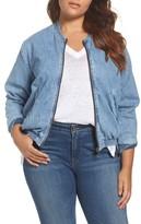 Lucky Brand Plus Size Women's Denim Bomber Jacket