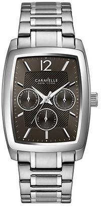 Caravelle Men's 43C115 Stainless Black Dial Multifunction Bracelet Watch